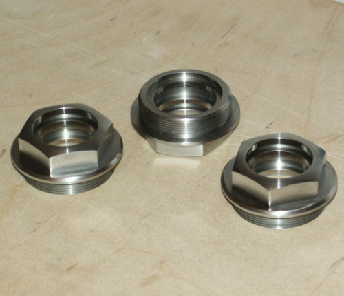 Vertical shaft top or bottom union nut stainless steel