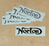 Norton Main Tank Transfer - Black (All models 1920's - 1950's)