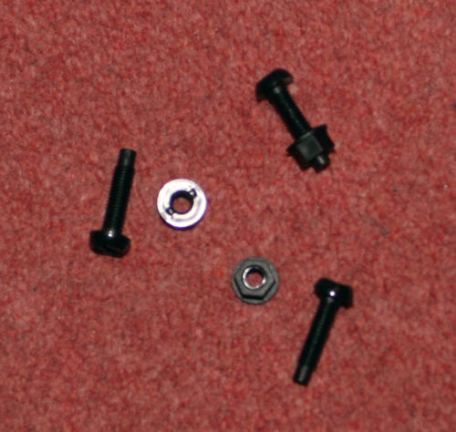 Racing Number Plates Fixing Screw/Nuts- Black