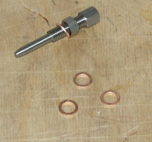 Cylinder Feed Bolt - Copper Washer