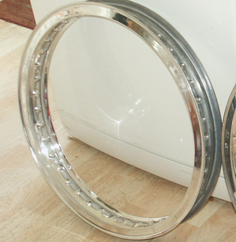 Alloy Front Rim : 19 Inch WM2 Flanged for Conical (SOHC and DOHC) Hub
