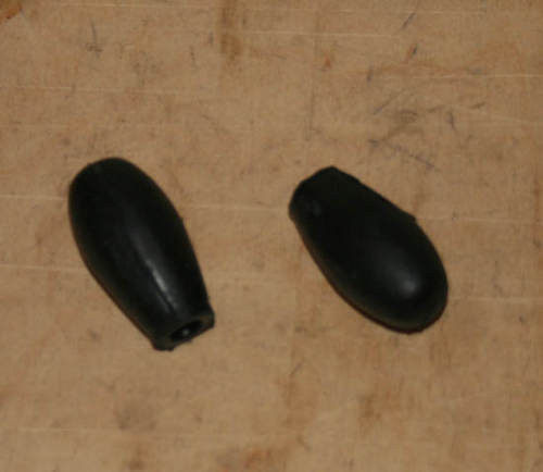 Rubber Stops for Non Ballended Levers - Pair