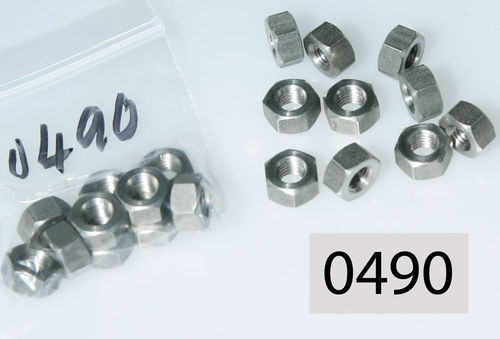 "1/4"" BSC Full Nut - Stainless: Pack of 10"