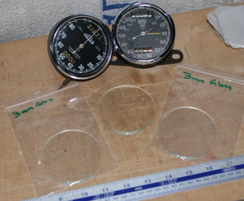 3mm Glass for Chronometric Speedo/Rev Clock