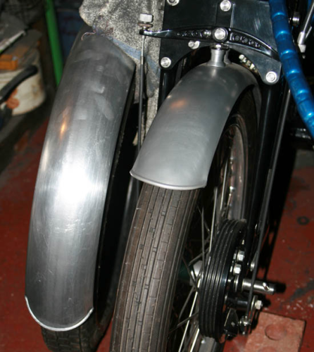 Vincent Black Lightning Mudguards - Alloy Pair