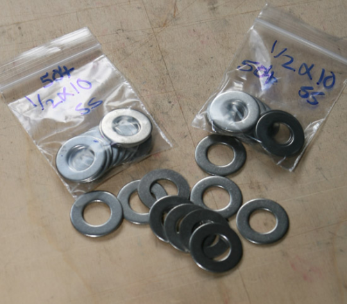 "1/2"" Plain Washer - Stainless Steel: Pack of 10"