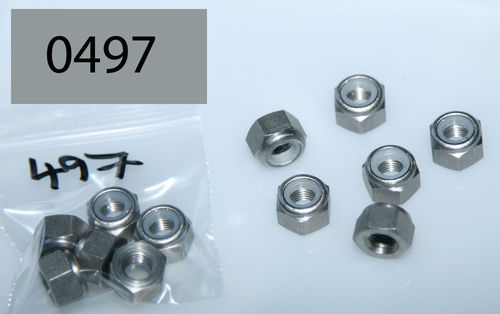 "5/16"" BSC Nyloc Full Nut - Stainless: Pack of 6"