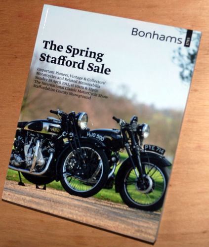Bonhams Catalog - 29th April 2012: Staffordshire County Showground - Motorcycles Auction