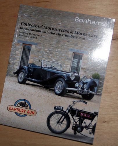 Bonhams Catalog - 15th June 2013: Shipton-on-Cherwell Oxford - Cars & Motorcycles Auction