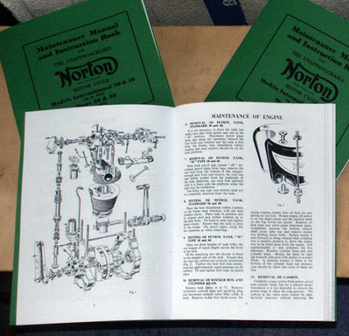 Norton International Workshop Manual (circa 1953)