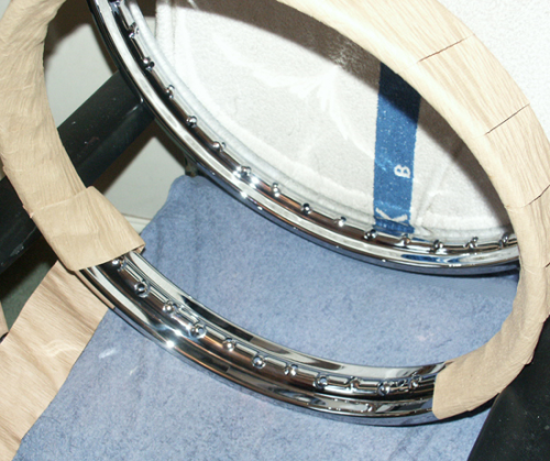 Chrome Rear Rim: 19 Inch WM2 40 Hole