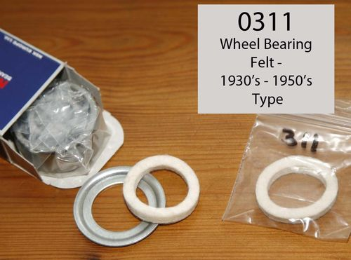 Norton Wheel Bearing - Felt Washer: 1930's - 1950's Type