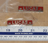 "Lucas 2"" Red Rectangular Racing Plate"