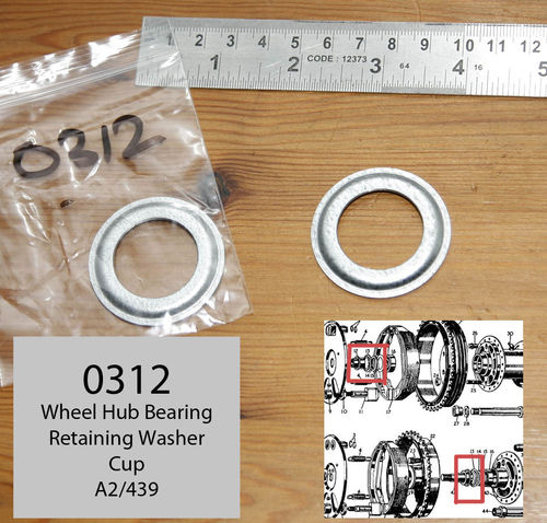 Norton Wheel Bearing - Felt Steel Cup