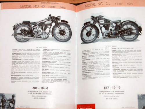 Norton 1936 'The Roadholder' Sales Catalog - Colour Facsimile
