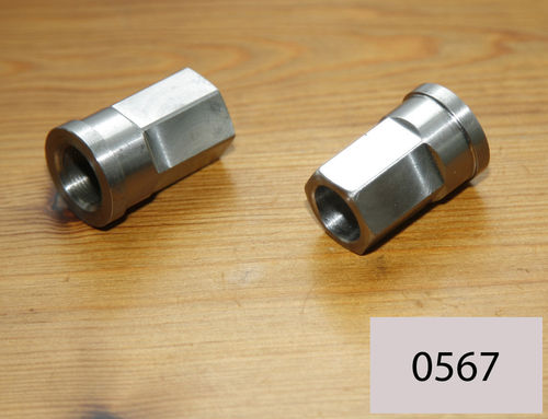 Upright Norton Gearbox - Gardengate Manx Gearbox Adjuster Top Nut - Stainless Steel