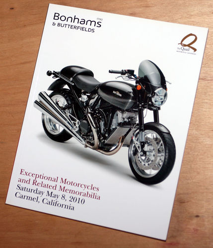 Bonhams Catalog - 8th May 2010: Exceptional Motorcycles and Memorabilia Auction