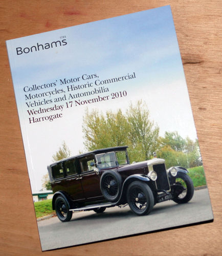 Bonhams Catalog - 17th November 2010: Harrogate Mortor Cars, Motorcycle, Commercial Vehicles Auction
