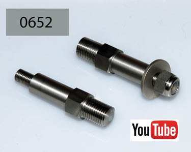 OHV/SV/Dominator Rigid/Gardengate/Swing Arm: Brake Pedal Pivot Bolt and Nut