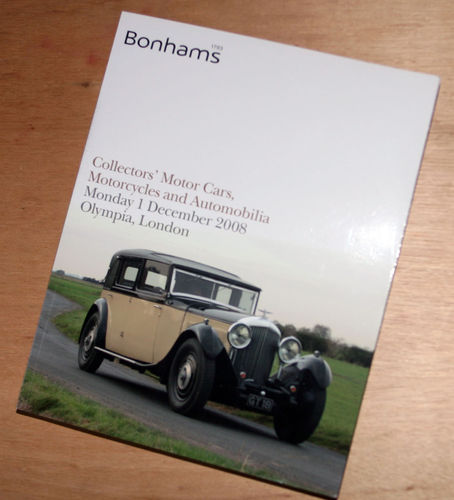 Bonhams Catalog - 1st December 2008: Olympia London - Cars & Motorcycle Auction