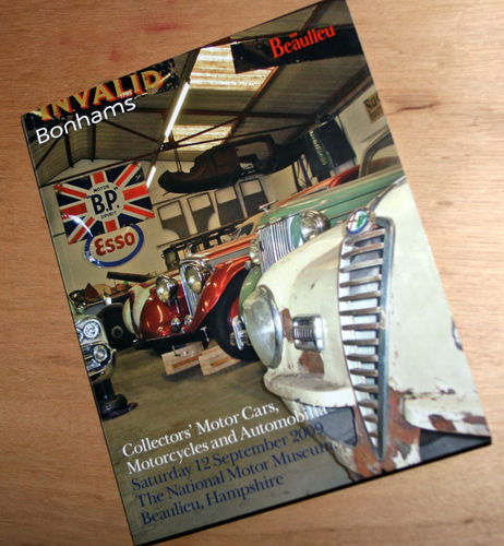 Bonhams Catalog - 12 September 2009: Beaulieu Museum - Cars & Motorcycle Auction