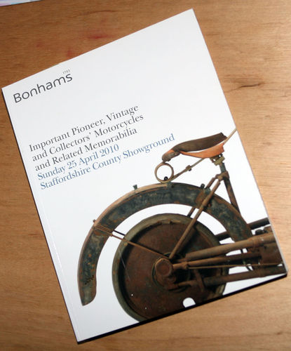Bonhams Catalog - 25th April 2010: Staffordshire County Showground - Vintage Motorcycles Auction