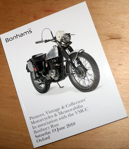 Bonhams Catalog - 19th June 2010: Kidlington Oxford - Motorcycles & Memorabilia Auction