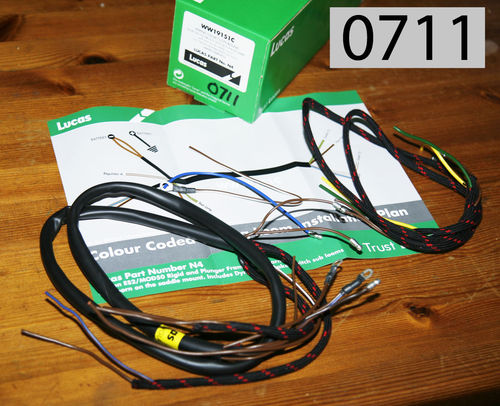 Marvelous Wiring Harness For Rigid Plunger Singles Sohc Ohv Sv By Lucas Wiring 101 Mentrastrewellnesstrialsorg