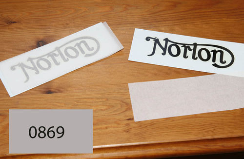 Norton Main Tank Transfer - Black (Flat Tank Models 1910 to Late 1920's) - Each