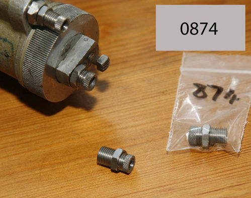 Throttle Cable Adjuster and Locknut to fit original Amal TT and RN Carb Tops - 2 Parts