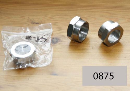 Norton Girder Fork : Steering Head Top Nut - International/M30 Type (Stainless Steel)