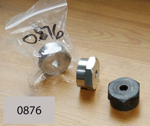 Norton Girder Fork : Steering Head Top Nut - OHV/SV/CS1 Type (Stainless Steel)