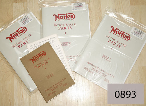 Norton 1928-29 Spare Parts List : OHV and SV Models (With 29 Models Supplement) - A4 Facsimile
