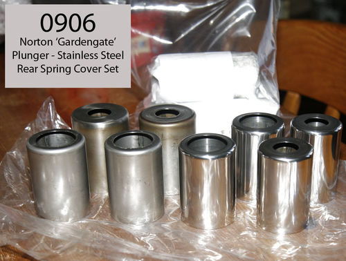 Norton Gardengate Plunger - Spring Cover Set (8 covers, 4 being polished) - Stainless Steel