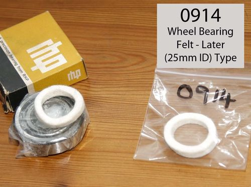 Norton Wheel Bearing Felt Washer - Later Metric Bearings or SOHC Crank (see description)