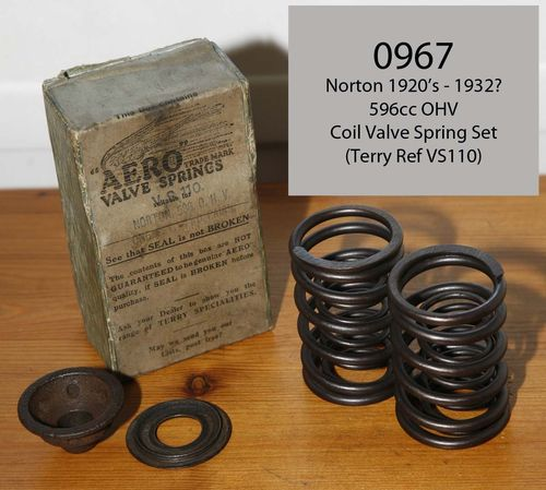 1920's 596cc OHV Coil Valve Springs (i.e. Terry's VS110 type) - Set of 4 Springs (see listing)