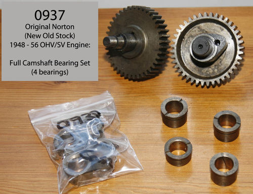 Original Norton 'New Old Stock' OHV/SV Camshaft Bearing Set - 1948 - 1956 Type