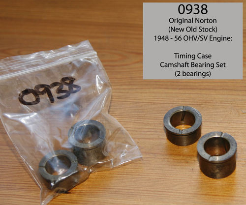 Original Norton 'New Old Stock' OHV/SV Timing Cover Camshaft Bearings (Pair) - 1948 - 1956 Type