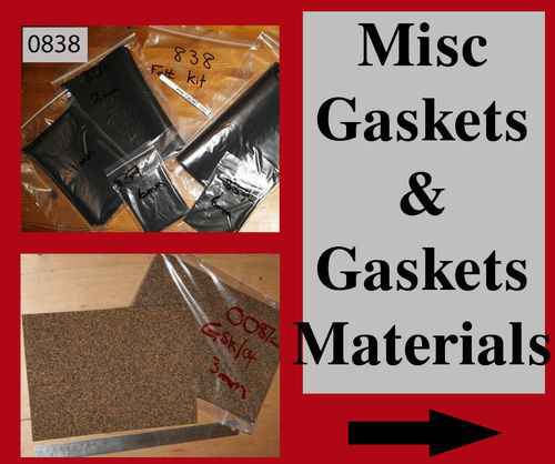 Gaskets - 7. Miscellaneous Gaskets/Seals and Gasket/Felt/Seal Materials