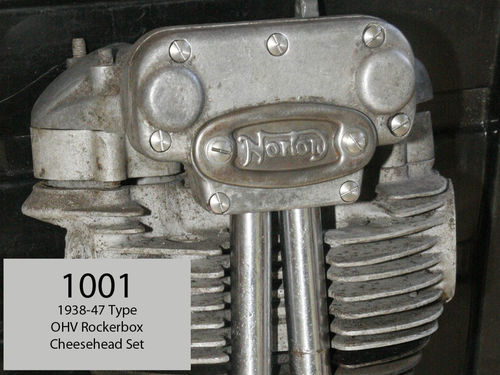 1938-47 OHV Engine - Complete Rocker Box (Norton type) Cheesehead SS Bar-turned Screw Set