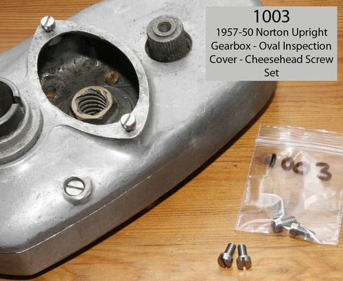 1947-50 Upright Gearbox - Inspection Cover SS Cheesehead Screw - Pair